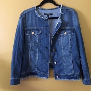 New White House Black Market Jean Jacket Size XL